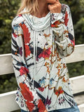 Shawl Collar Fashion Printed Long Sleeve Sweatshirts