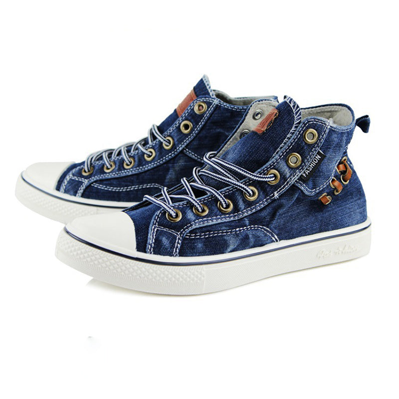 Women High Top Canvas Denim Shoes Sneakers