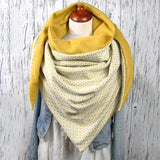 Cotton Plaid Scarf Triangle Warm Snood Scarfs  Winter Scarves For Women