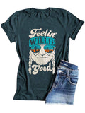 Printed Women's Crew Neck Short Sleeve Casual T-shirts