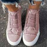 Women Casual Side Zipper Comfy Sneakers