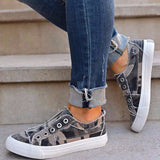 Women Soft Camouflage Slip-on Flat Sneakers