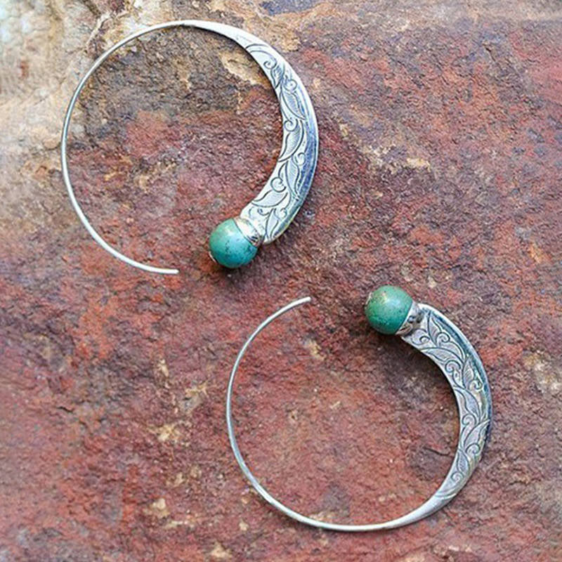 Retro Punk Round Shape Earrings