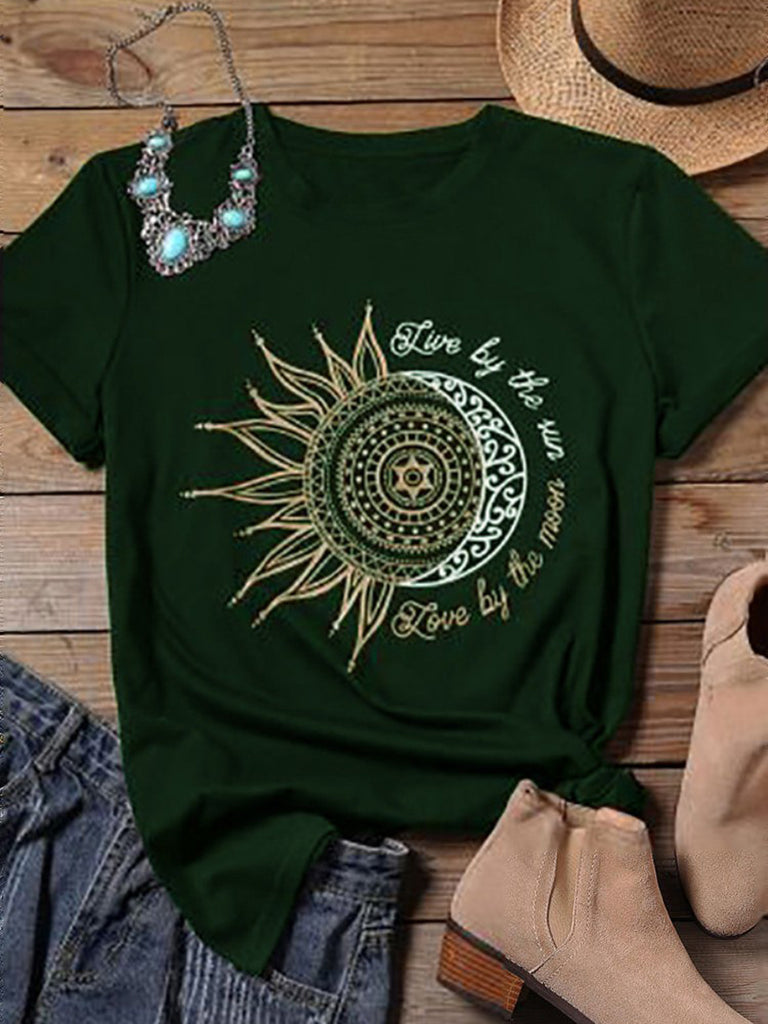 Sunflower Printed Short sleeve T-shirts