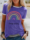 Printed Crew Neck Short Sleeve Women T-shirts