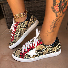 Load image into Gallery viewer, Women Comfy Daily Lace-up/Slip-on Multi Snake Sneaker