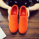 Women Casual Canvas Round Toe Solid Color Flat Shoes