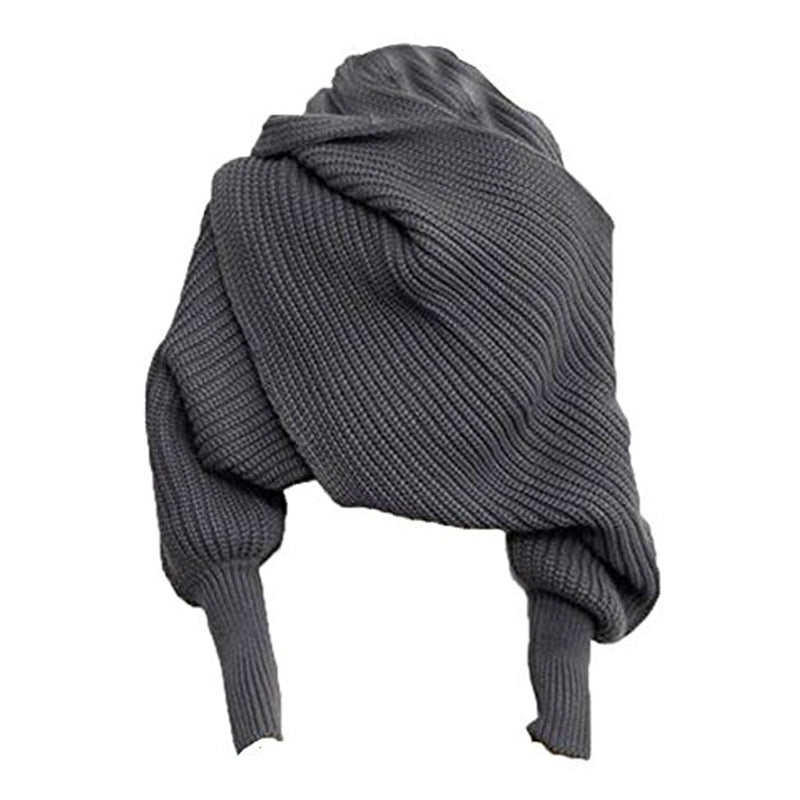 Women Solid Knitted Street Winter Scarf