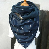 Warm Snood Scarf Cotton Print Triangle Scarf  Winter Scarfs