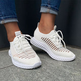 Women's Net Surface Breathable Lace-Up Hollow Out Sneakers