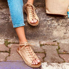Load image into Gallery viewer, Women Casual Summer Lace Up Slide Sandals-shoeri