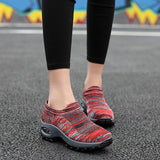 Women's Spring&Summer Breathable Woven Hollow Air Cusion Sneakers-shoeri