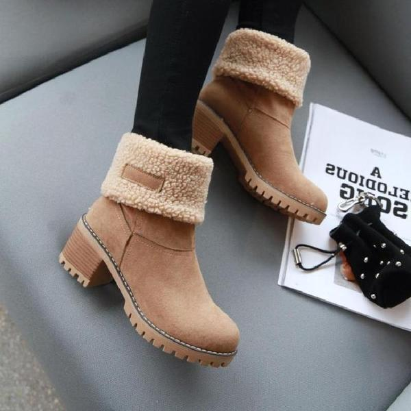 Women's Two Wear Thick Fashionable Winter Boots-shoeri