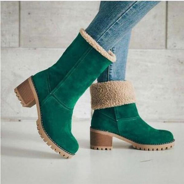 Women's Two Wear Thick Fashionable Winter Boots
