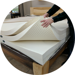 "Build a Bed Mattress - 3"" 100% All Natural Latex Layers"