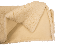 Breathable wool Fleece Topper with 100% organic cotton regulate body temperature and relieve unwanted pressure.