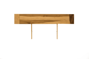 Flat Low Profile Headboard made of exotic poplar with hemp oil finish to protect your walls.