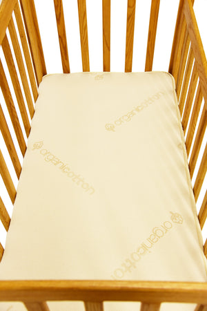 Crib Mattress is made of organic cotton and certified organic latex.
