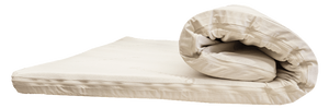 "Dreamer, our organic mattress topper, is a 3"" layer of 100% organic latex (or even an extra soft Talalay layer), covered in a 100% organic cotton knit zippered casing."