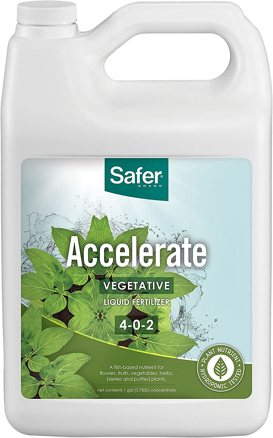 Safer® Brand Accelerate Liquid Fertilizer for Hydroponics-Gal