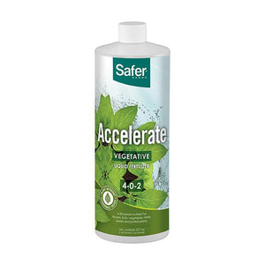Safer® Brand Accelerate Liquid Fertilizer for Hydroponics-Qt