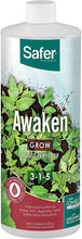 Load image into Gallery viewer, Safer® Brand Awaken (3-1-5) Liquid Nutrient Fertilizer Concentrate -Qt