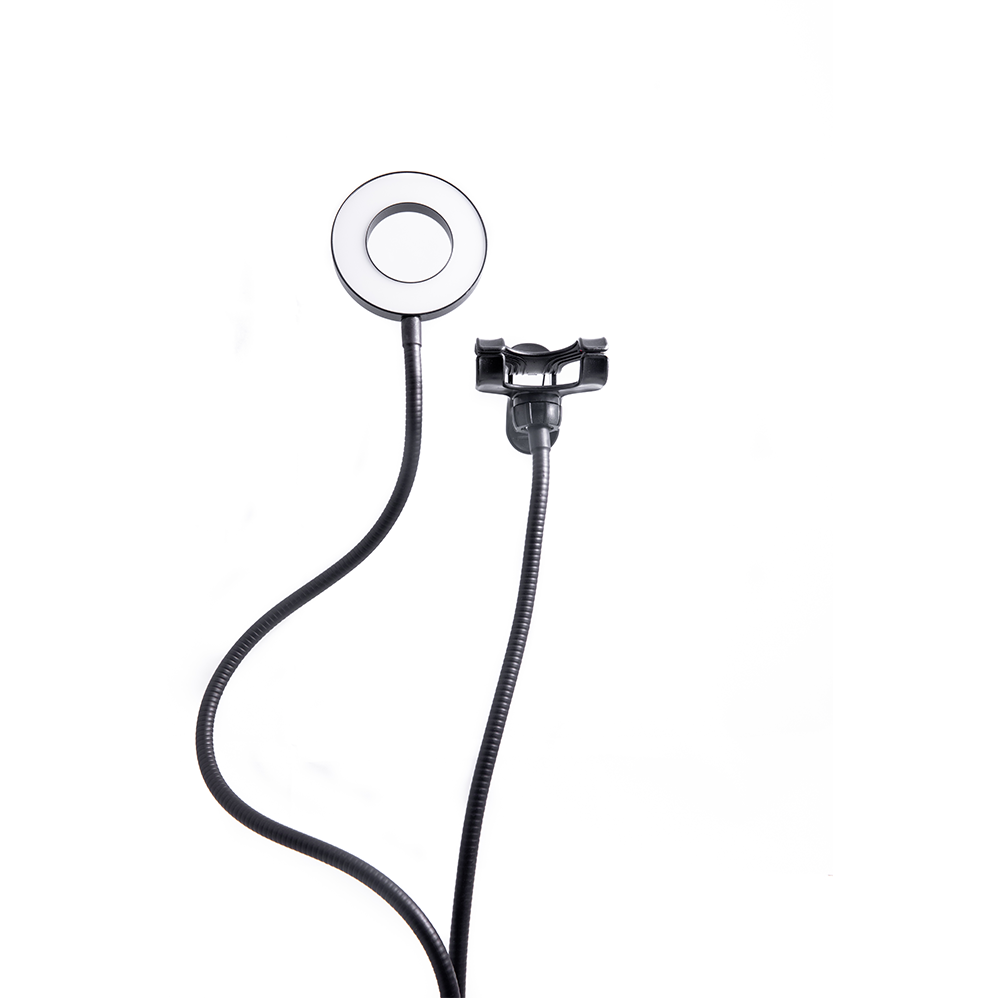 Selfie LED Ring Light with Mobile Phone Holder and Clamp