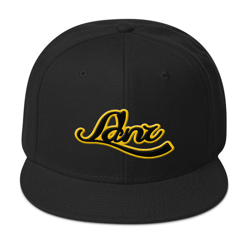 L D N R yellow and black Snapback Hat