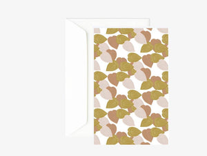 Carte double feuilles coeur - Carte double colorée - Happy Birthday