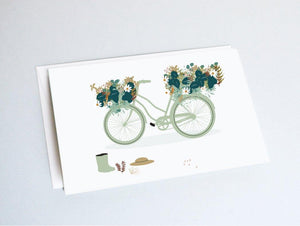 Carte vélo fleuri - carte flowers powers
