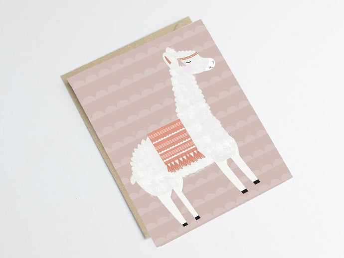 Carte postale lama - Green and Paper