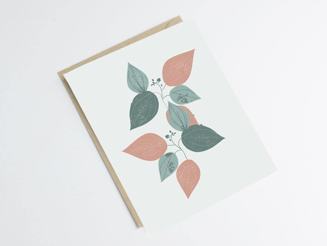 Carte postale acacias - inspiration florale - Green and Paper