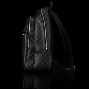 Louis Vuitton-GRAPHITE CANVAS-Colour: Graphite 17.72 x 6.69 inches ( height x width ) Cabin size Two zipped pockets on the exterior Foam padded computer pocket Mobile phone pocket Double zipper for security and convenience D-ring to clip keys-fabriqe.com