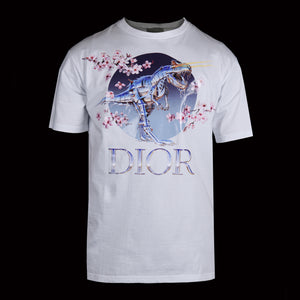 Dior-T-shirt-Colour: White Material: 100% Cotton Crew neck, short sleeves Fit: Oversize-fabriqe.com