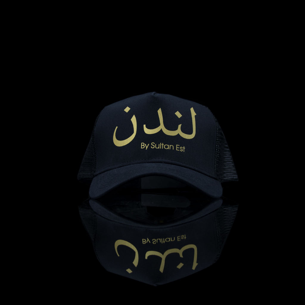 Sultan Est-Cap-London (Arabic) One Size Fits All Black Gold-fabriqe.com