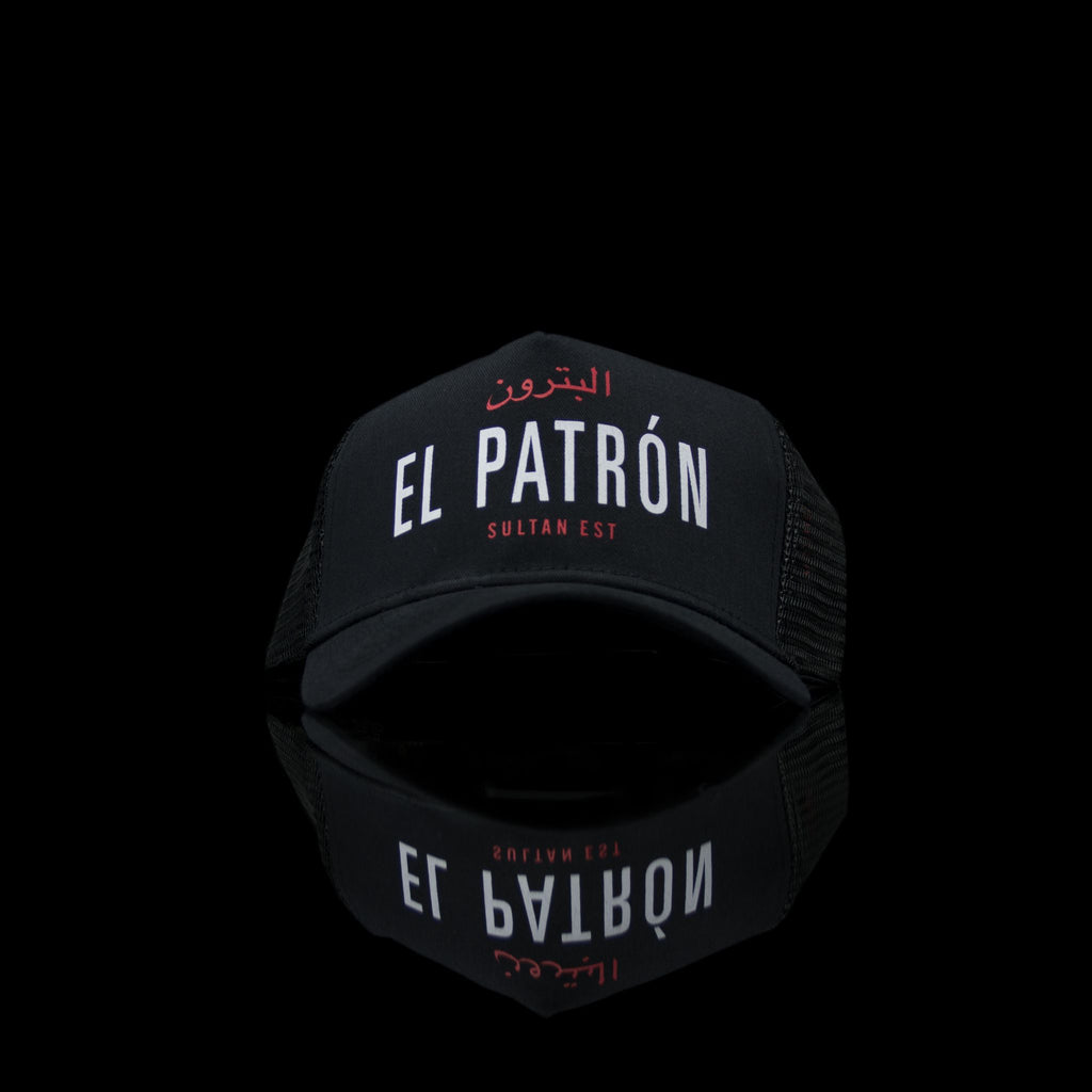 Sultan Est-Cap-El Patron (Arabic) One Size Fits All Black White-fabriqe.com