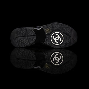 Chanel-CC Sneakers-Pre Order Duration (3-5 Working Days) CC Logo on side Black Reflective 3m pipping and back Black Release: 2019 Limited Release Suede Nylon 3m-fabriqe.com