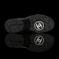 Chanel-CC Sneakers-Pre Order Duration (3-5 Working Days) CC Logo on side Black Mesh Toe Box, Mesh Sides, Reflective Panels Rubber Sole 2018 Release Limited Stock-fabriqe.com