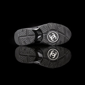Chanel-CC Sneakers-Pre Order Duration (3-5 Working Days) This item is classed as Women's CC Logo on side Black Black Release: 2017 Limited Release Lambskin Suede, Leather, Nylon-fabriqe.com