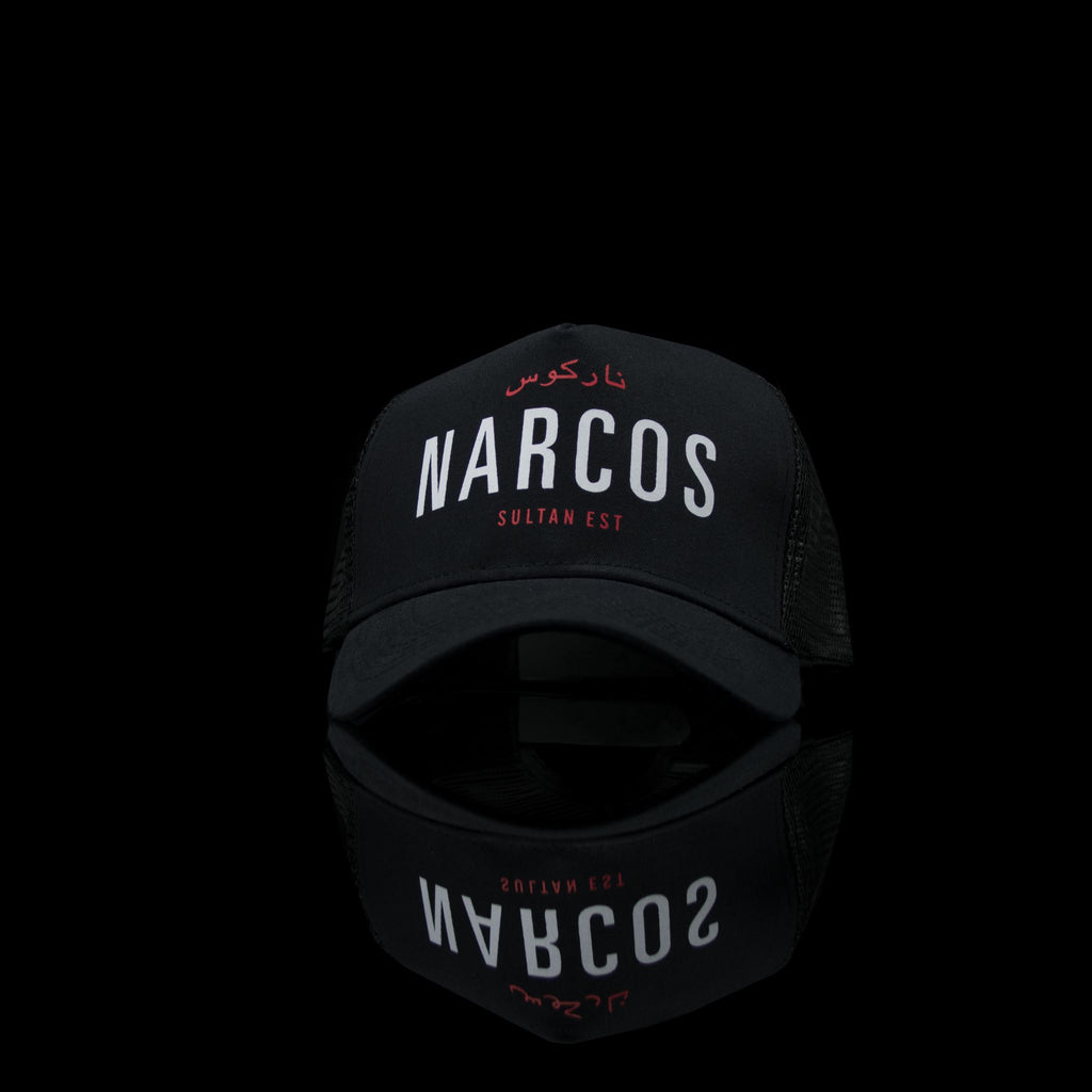 Sultan Est-Cap-Narcos (Arabic) One Size Fits All Black White-fabriqe.com