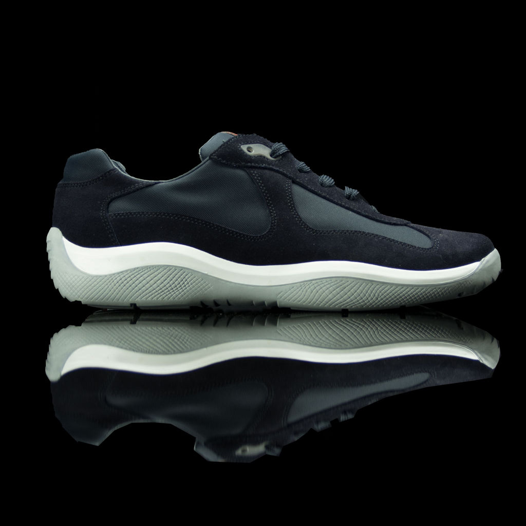 Prada-Americas World Cup-Colour: Navy Blue Classic Material: Suede Canvas Rubber Sole-fabriqe.com