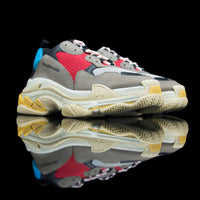 Balenciaga-Triple S-Product Code: 512176 W0901 1000 Colour: Grey, Red, Blue, White – Multi Coloured Limited Stock Material: Nubuck, Mesh, Rubber Sole-fabriqe.com