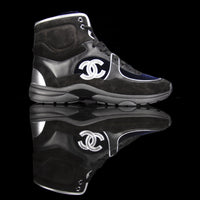 Chanel-CC Sneakers-Pre Order Duration (3-5 Working Days) This item is classed as Women's CC Logo on side Black, Navy, Silver, Grey Release: 2018 Limited Release Lambskin & Velour-fabriqe.com