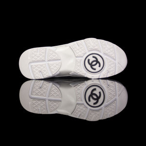 Chanel-CC Sneakers-Pre Order Duration (3-5 Working Days) CC Logo on side Cream, White,Grey, Red Suede, Rubber Sole 2018 Release Limited Stock Chanel CCs crafted in mixed fabric sports CC branding on the side. Composed in leather with the suede line finish grabs the spotlight! In addition, the 2018 limited release the sneakers carry Chanel typography on the rubber sole. Pre-order Exclusive!-fabriqe.com