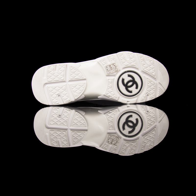 Chanel-CC Sneakers-Pre Order Duration (3-5 Working Days) CC Logo on side Silver Reflective 3m piping and back White Blue Orange Release: 2019 Limited Release Suede Nylon 3m-fabriqe.com