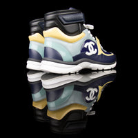 Chanel-CC Sneakers-Pre Order Duration (3-5 Working Days) CC Logo on side Multi Patent, Blue Teal, Yellow Leather Patent Rubber Sole 2019 Release Limited Stock Chanel CCs crafted in leather and patent fabric sports CC branding on the side. Composed in leather with the patent finish and platformed on rubber sole. Also, the colour of sky blue, navy blue and cream is sure to grab the spotlight!-fabriqe.com