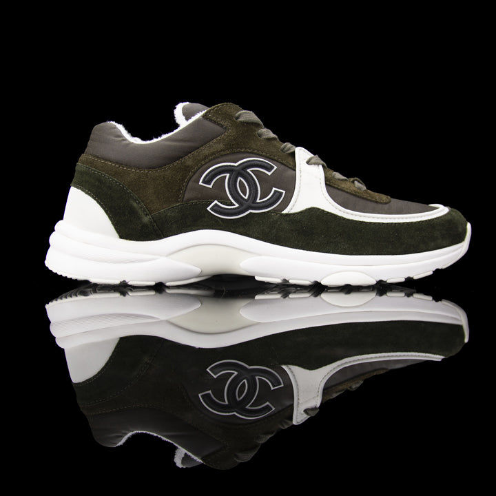 CC Sneakers Suede Nylon Reflective