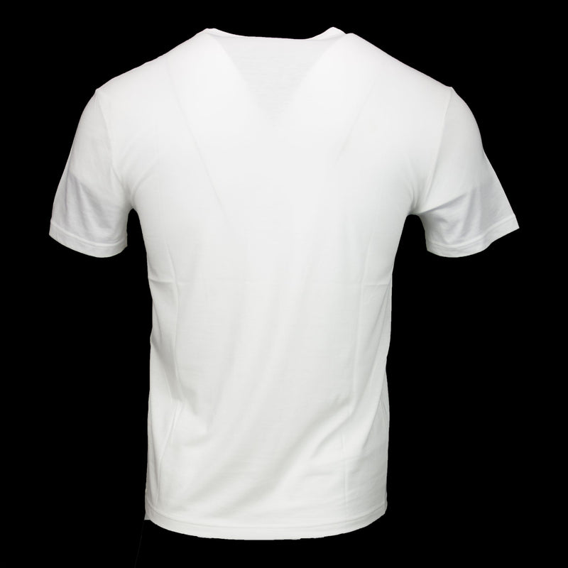 Gucci-T-shirt-Water coloured Logo White Cotton Round Neck Straight Fit-fabriqe.com
