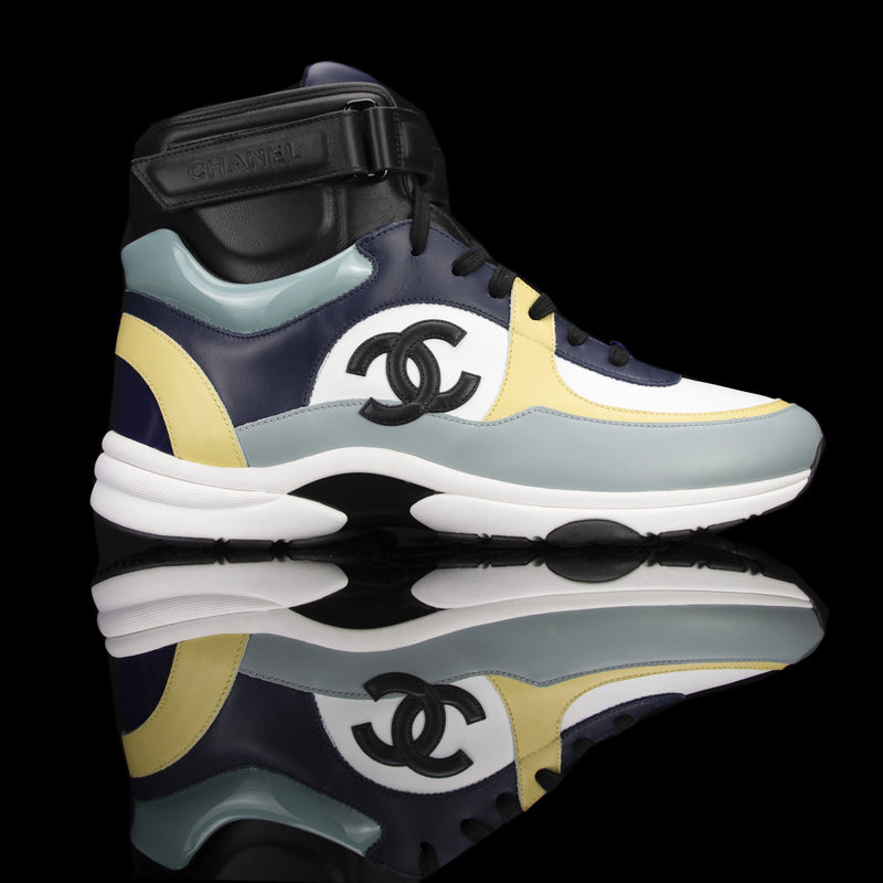 Chanel-CC Sneakers-Pre Order Duration (3-5 Working Days) CC Logo on side White, Cream, Sky Blue, Navy Blue, Black Leather Patent Rubber Sole 2019 Release Limited Stock Chanel CCs crafted in leather and patent fabric sports CC branding on the side. Composed in leather with the patent finish and platformed on rubber sole. Also, the colour of sky blue, navy blue and cream is sure to grab the spotlight!-fabriqe.com