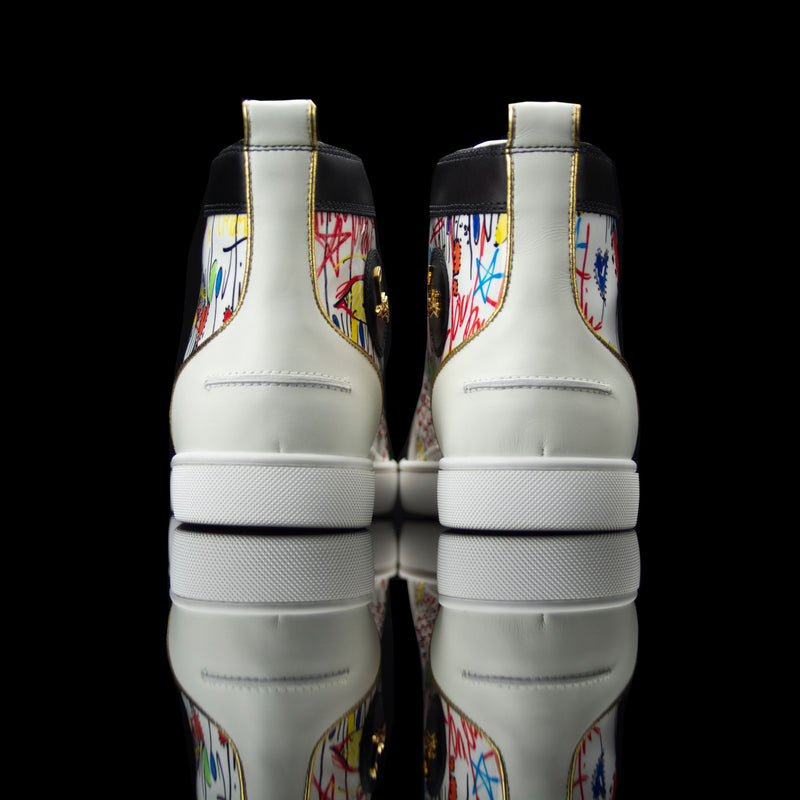 Christian Louboutin-Louis Flat High-Product Code: 1180212 Colour: White/Multi Release Date: 2017 Material: Patent Leather, Suede, Rubber Sole-fabriqe.com